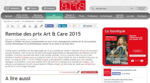 9 avril_connaissance des arts_remise des prix art&care