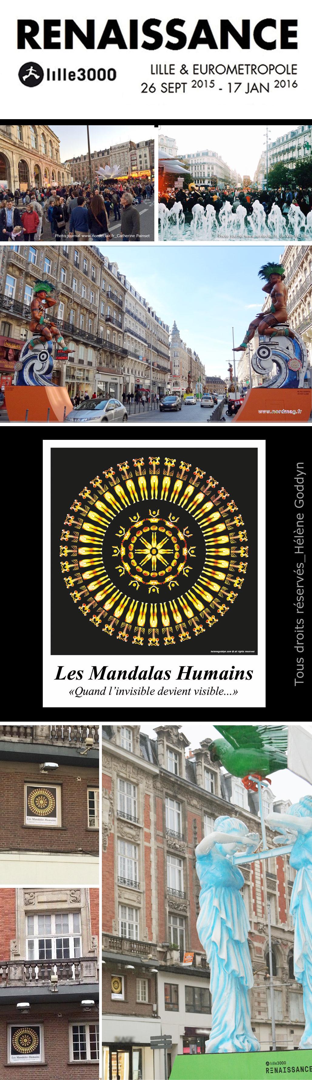 Renaissance_lille_Mandala-Humain_installation-urbaine_Goddyn-helene_rue-Faidherbe_Rayonnement_Soleil_installation-artistique